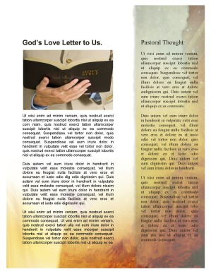 Easter Sunday Newsletter Template