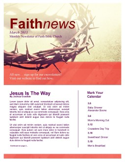 Easter Crown of Thorns Newsletter Template