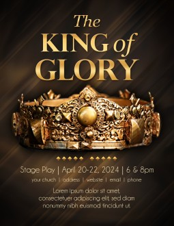 King of Glory Easter Flyer