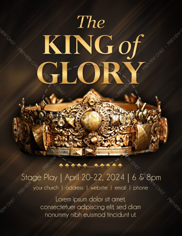 king of glory easter flyer template