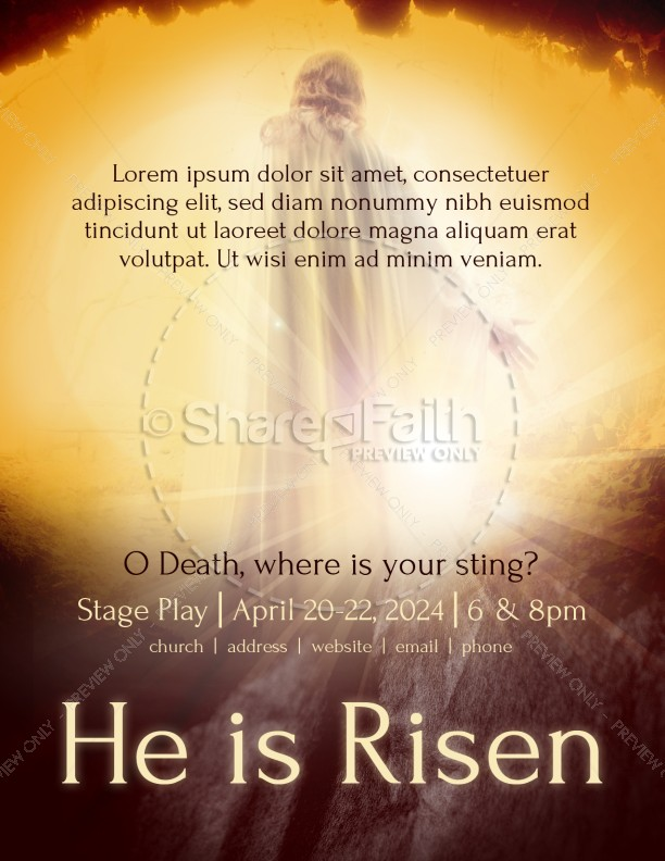 Resurrection Sunday Church Flyer Template | Flyer Templates