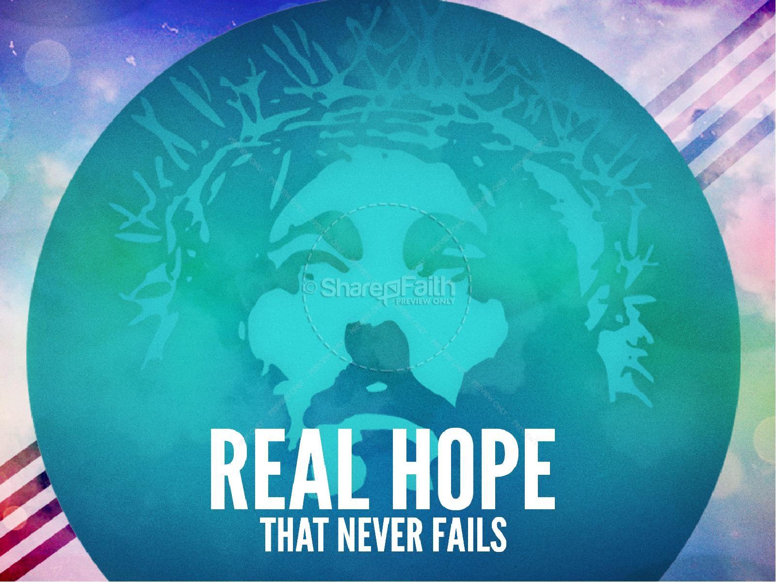 Real Hope Easter PowerPoint | slide 1