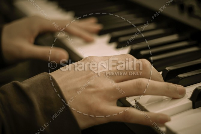 Piano Christian Stock Photo