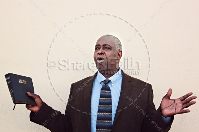 Pastor Christian Stock Photo