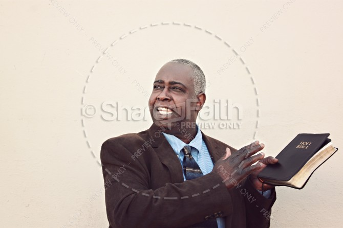 Sermon Christian Stock Image