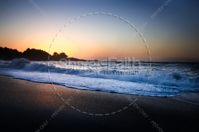 Ocean Waves Christian Stock Image