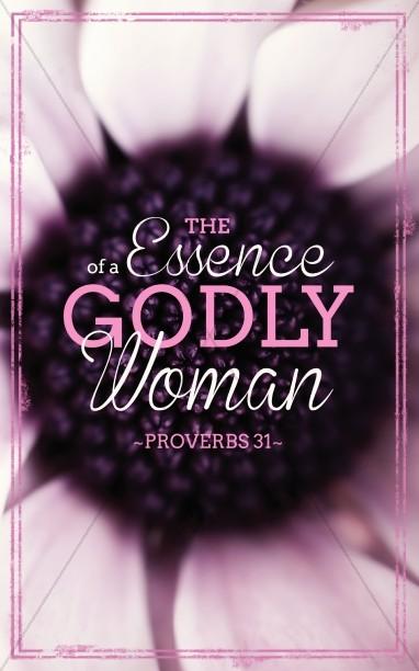 Godly Woman Church Bulletins