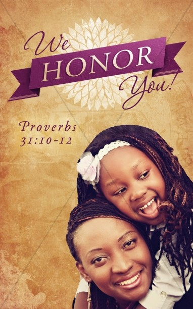 Honor Mothers Church Bulletin