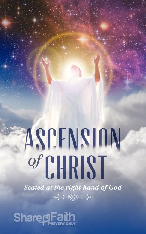 Ascension Of Christ Church Bulletin Design Sermon