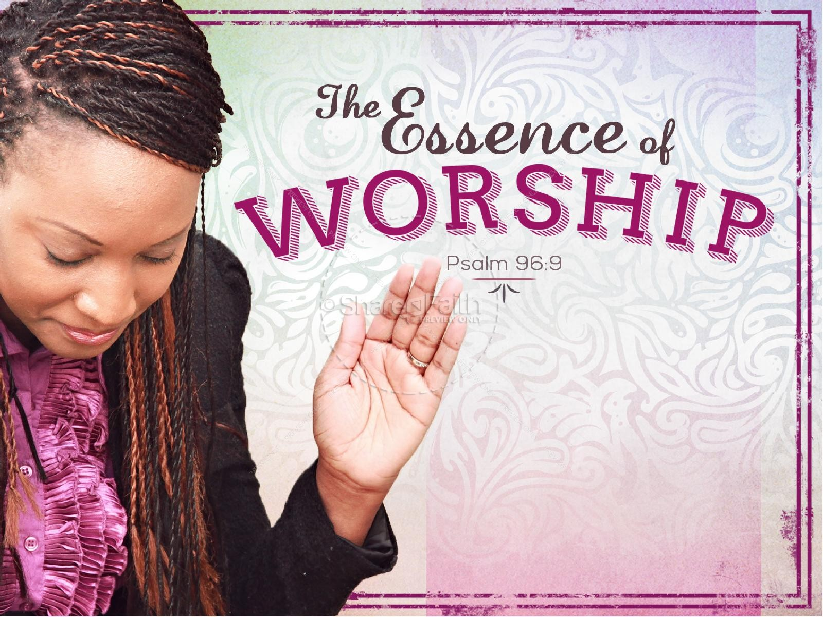 Essence of Worship Church PowerPoint Sermon Template