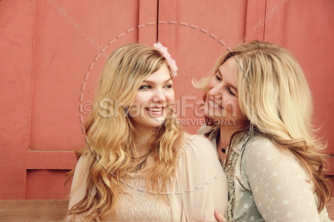 Mother and Daughter Mother's Day Christian Stock Photos