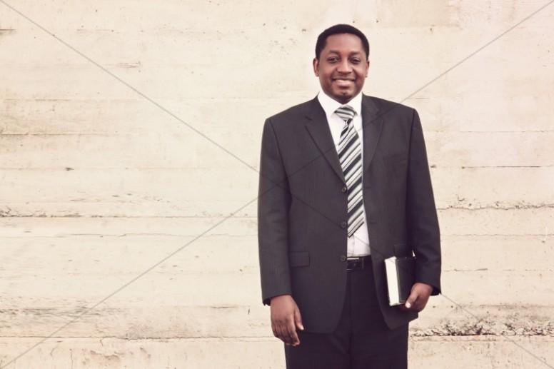 Man of Faith Christian Stock Image
