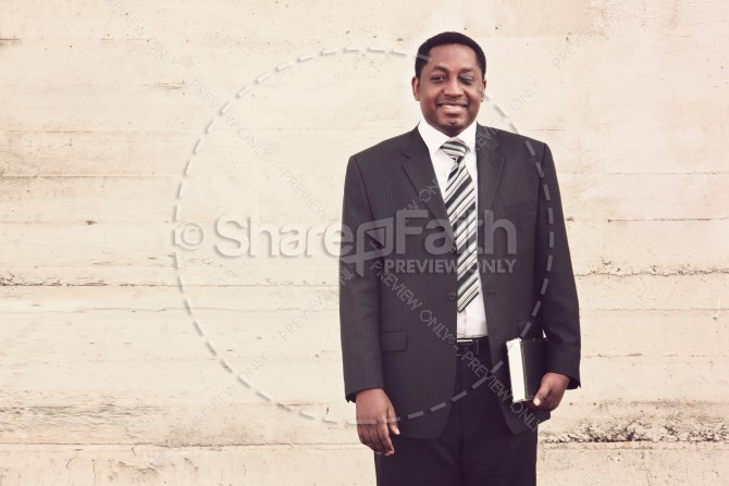 Man of Faith Christian Stock Image