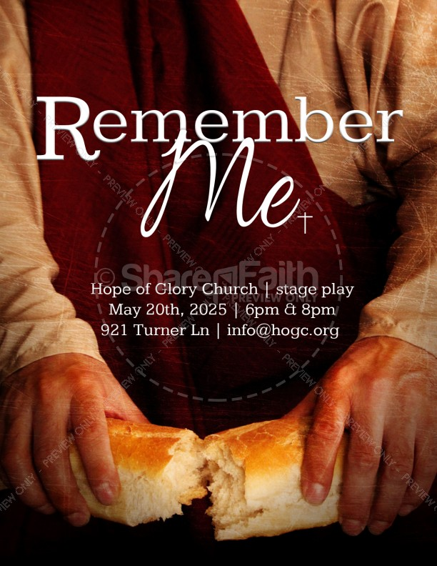Communion Flyer Template for Church