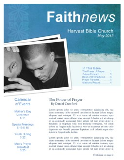 Church Newsletter Template Designs