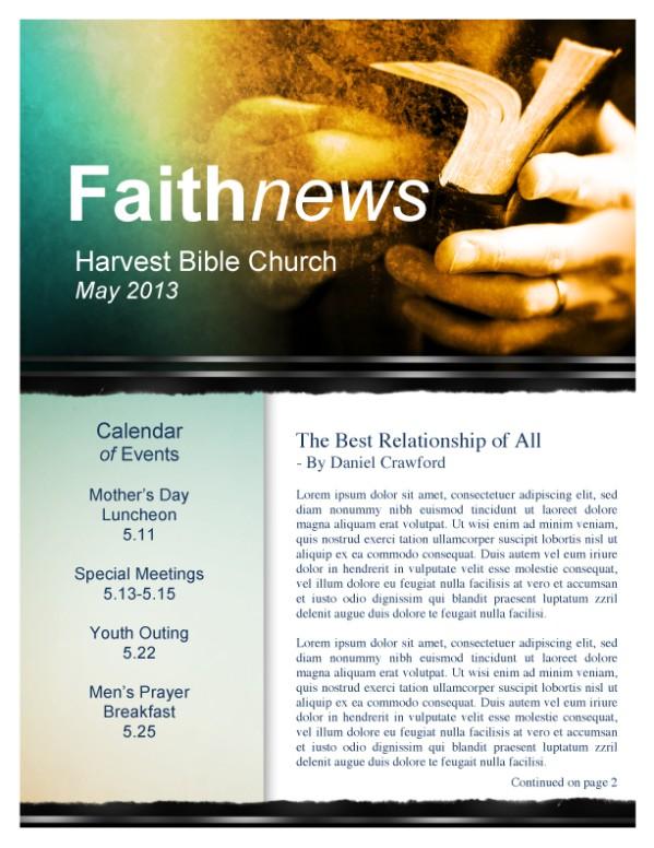 Baptist Newsletter Church Template