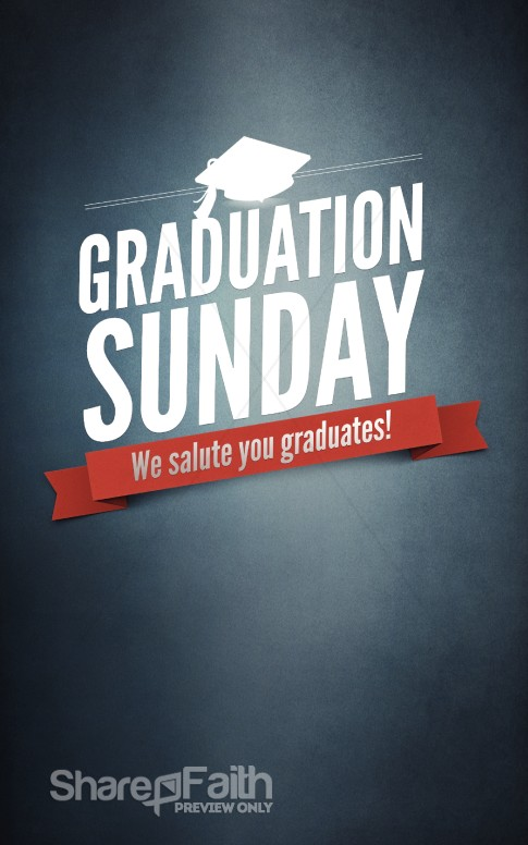 Graduation Sunday Program Cover Template Secular Holiday