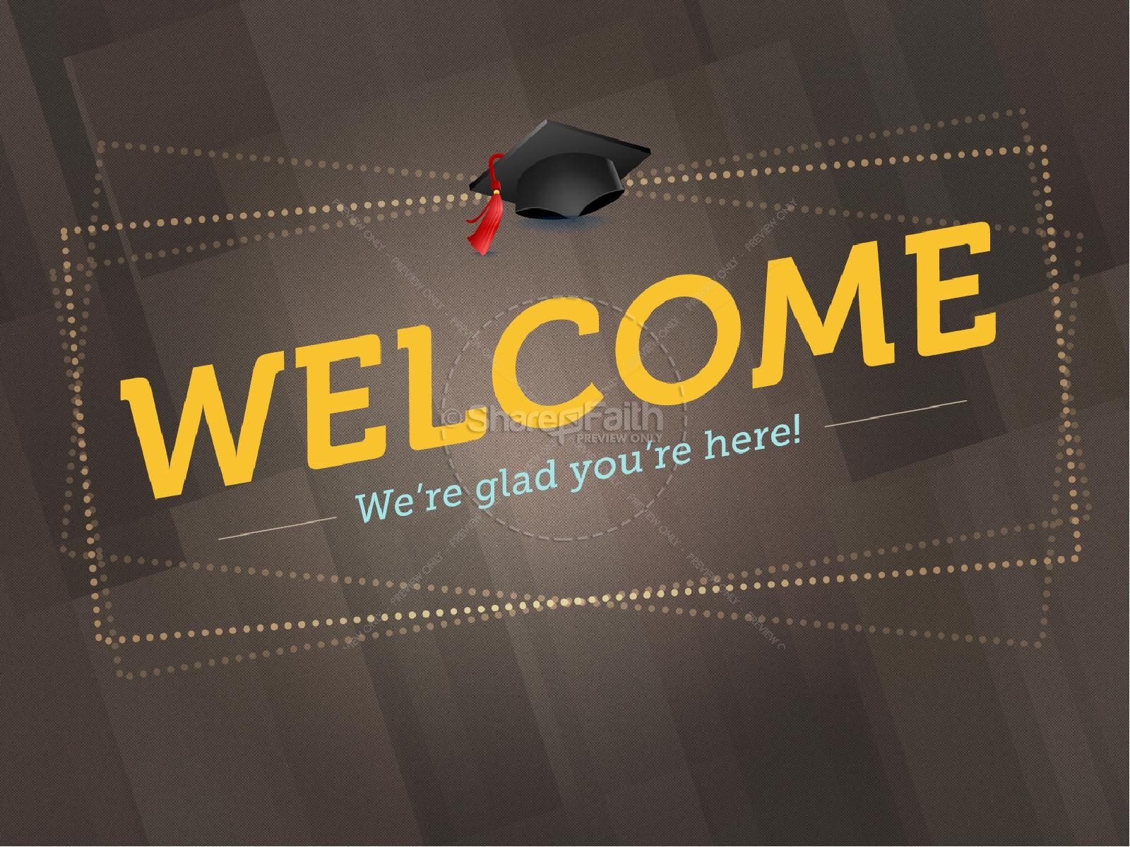 Graduation Sunday Graphics Templates PowerPoint