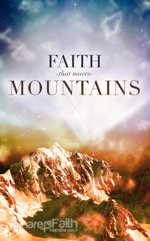 Faith That Moves Mountains Church Program Cover Sermon