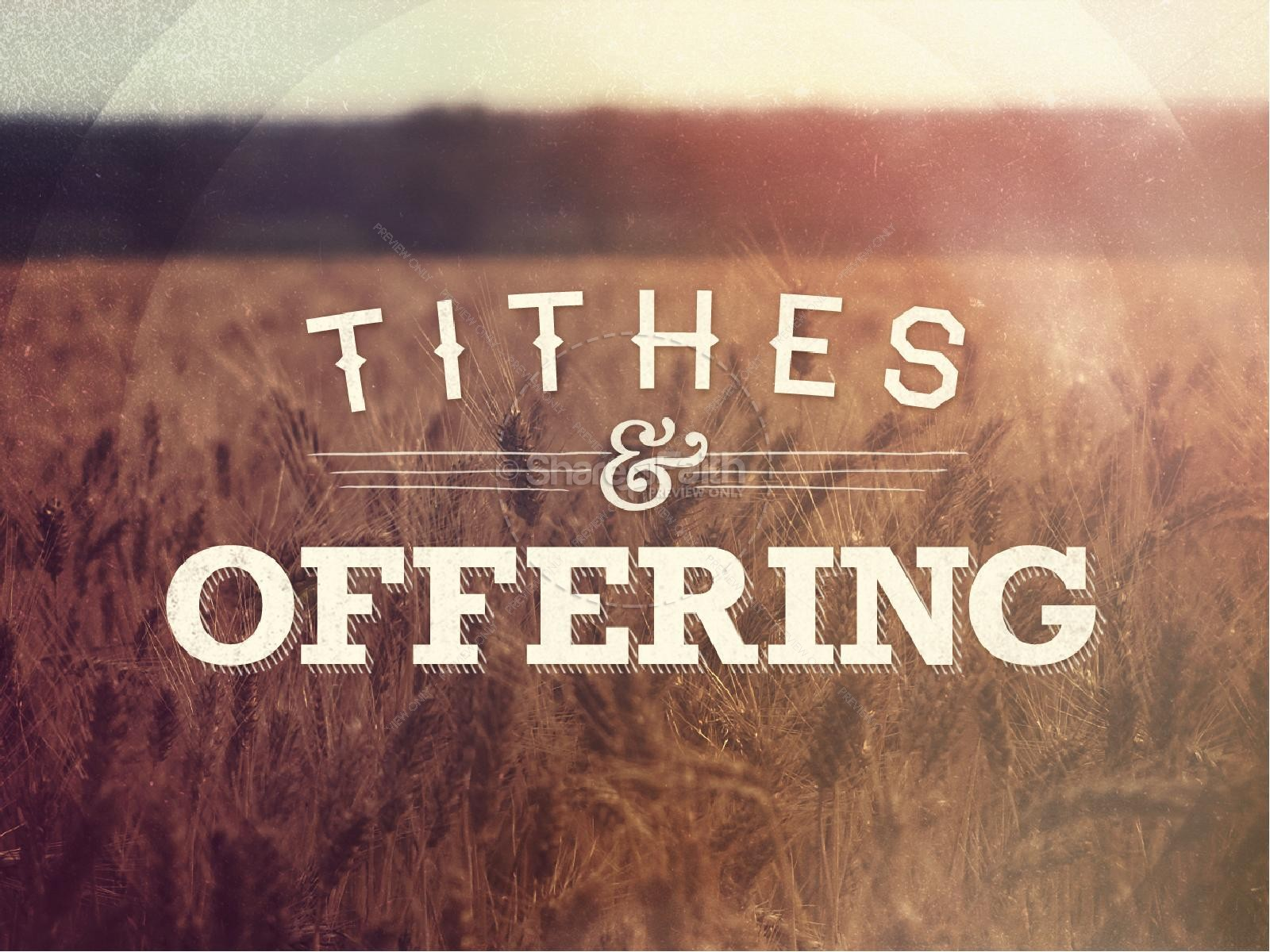 Tithes and Offering Sermon PowerPoint for Church