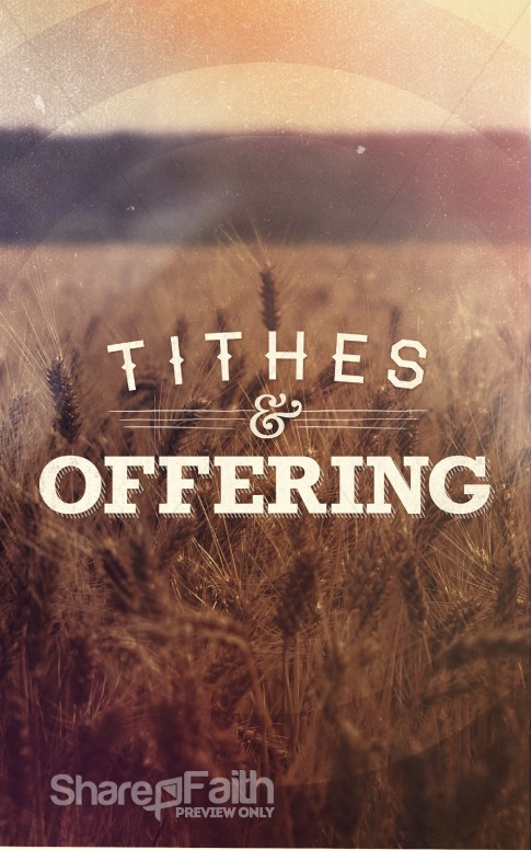 Tithes And Offering Church Bulletins Sermon Bulletin Covers