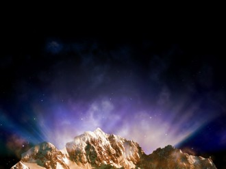 Mountains and Sky Worship Background