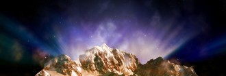 Mountains and Sky Website Banner