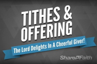 Tithes and Offerings Motion Loop Video for Church