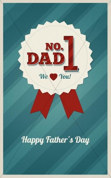 No. 1 Dad Church Bulletin