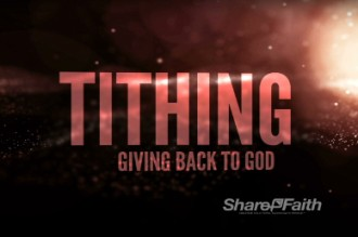 Stars Tithes and Offering Video Loops Motion Graphics for Church