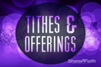 Tithes and Offerings Welcome Motion Screen for Churches