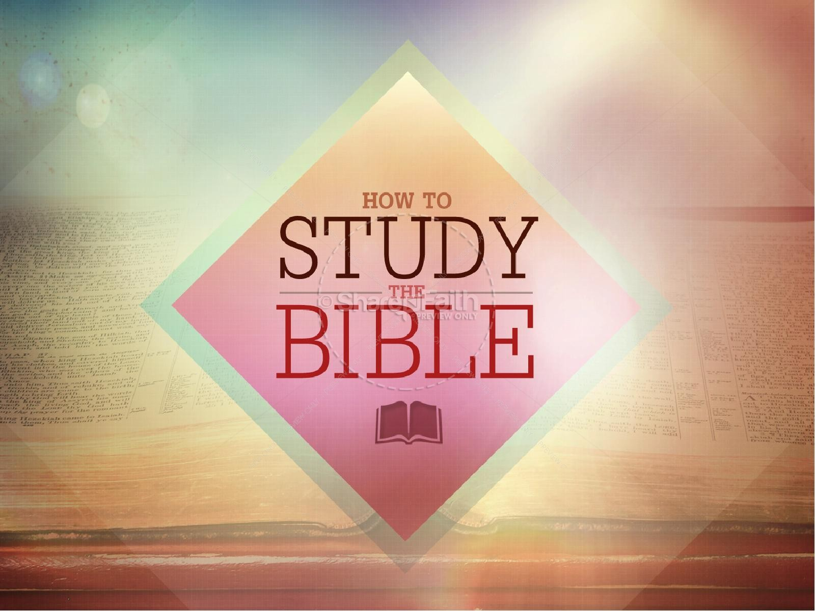 How to Study the Bible Power Point Template