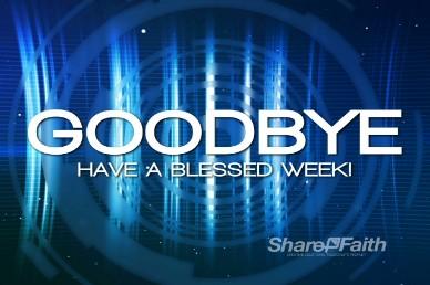 Goodbye Church Service Ending Video Loop