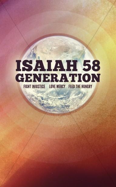 isaiah 58 generation christian mission church bulletins