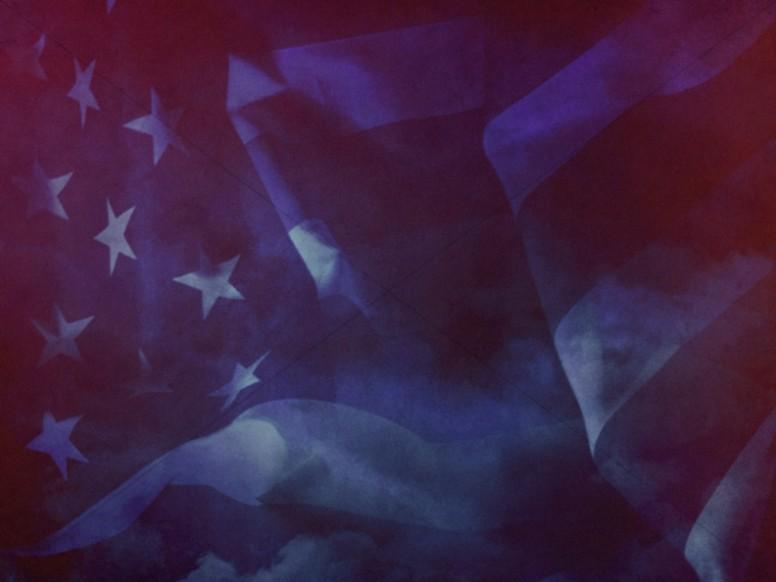 American Flag Worship Background Still