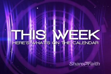 This Week Announcement Calendar Video Loop
