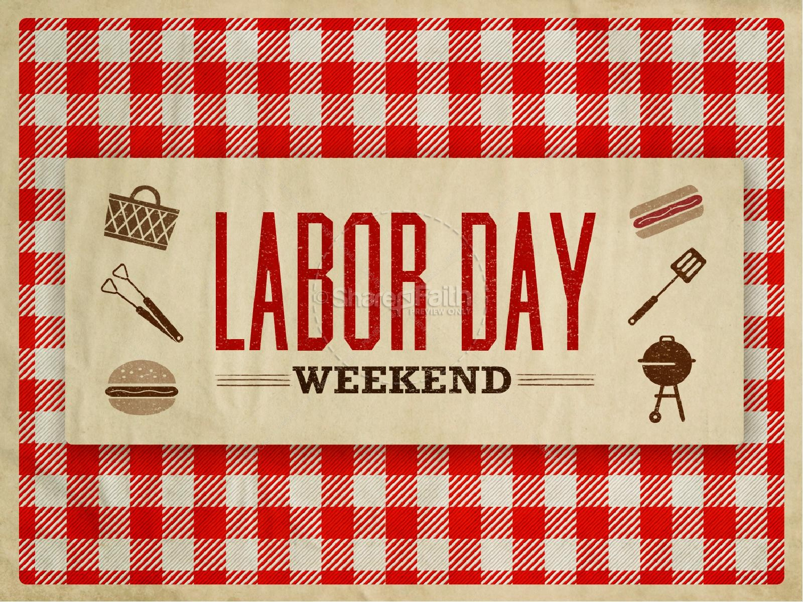 Labor Day Themed PowerPoint Sermon Template