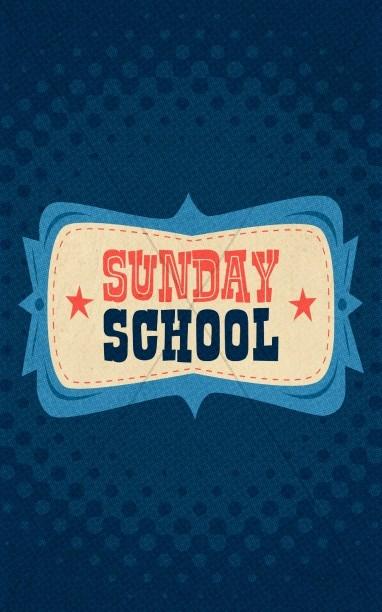 Retro Sunday School Bulletin Cover