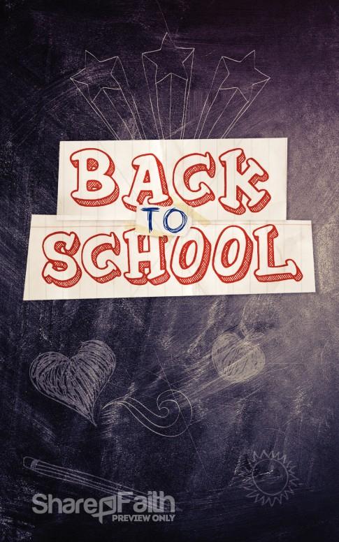 Back to School Blackboard Bulletin