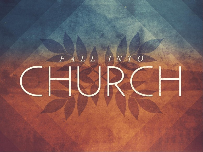 Fall Into Church Power PowerPoint Autumn Graphics