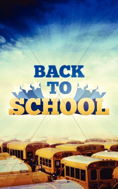 Back to School Yellow Bus Graphics Bulletin Cover