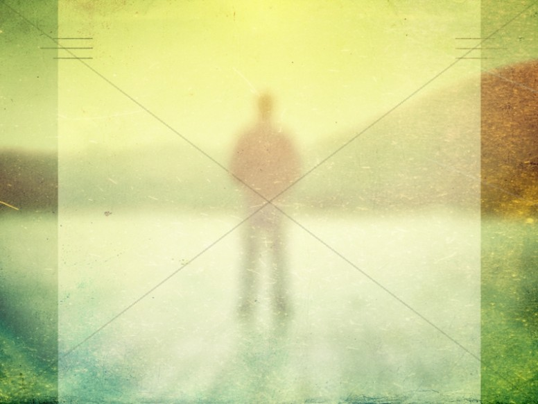 Man Standing Worship Background