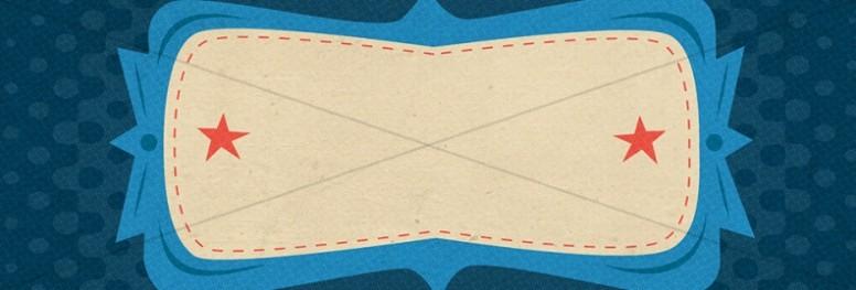 Retro Blue Website Banner
