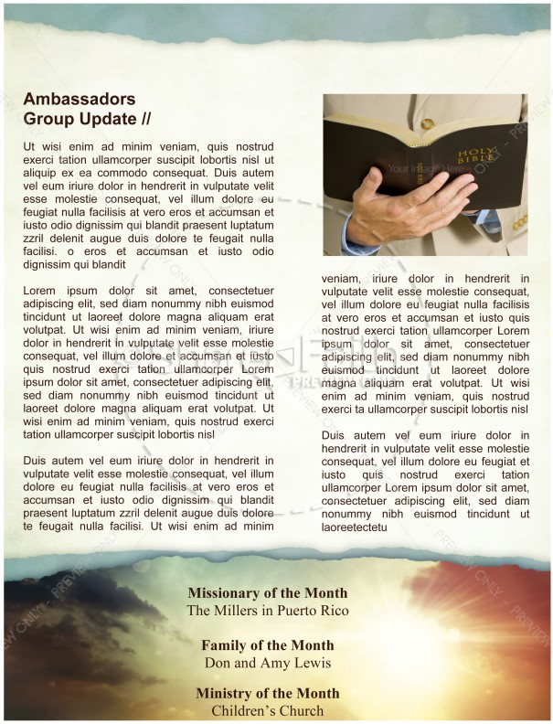 Sun Rays and Clouds Newsletter Template | page 4