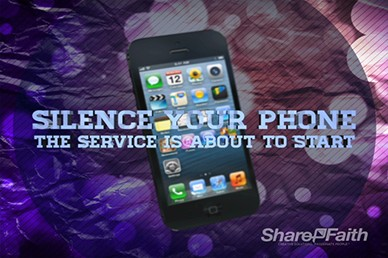 iPhone Silence Your Phone Motion Loop