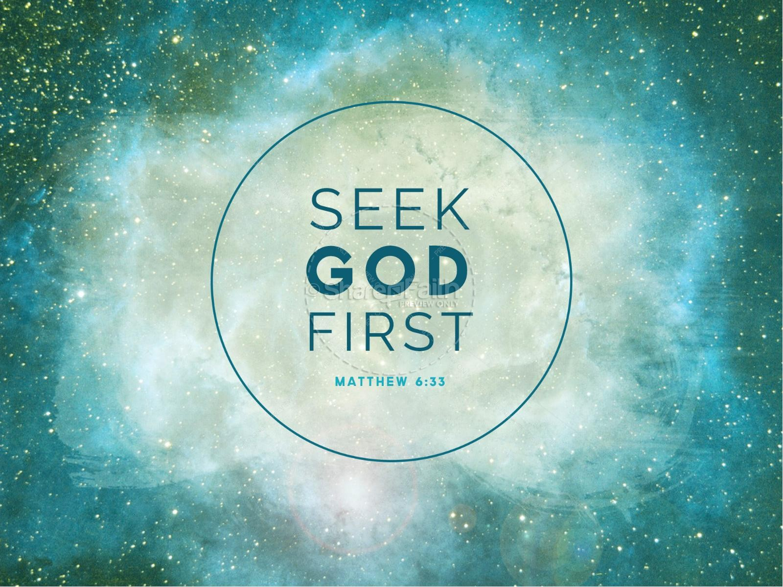 Seek God First PowerPoint