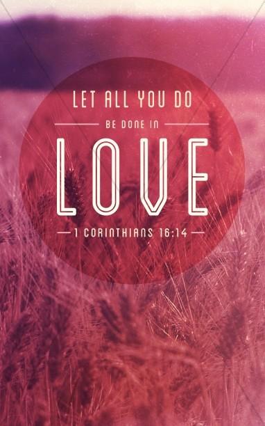 1 Corinthians 16:4 Love Bulletin Cover