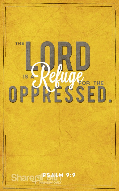 Psalm 9 9 Bulletin Cover Sermon