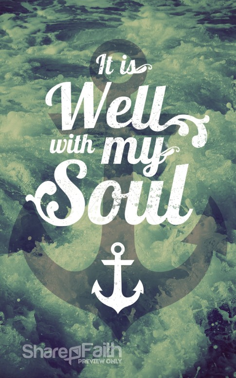 It Is Well With My Soul Church Bulletin Cover Sermon