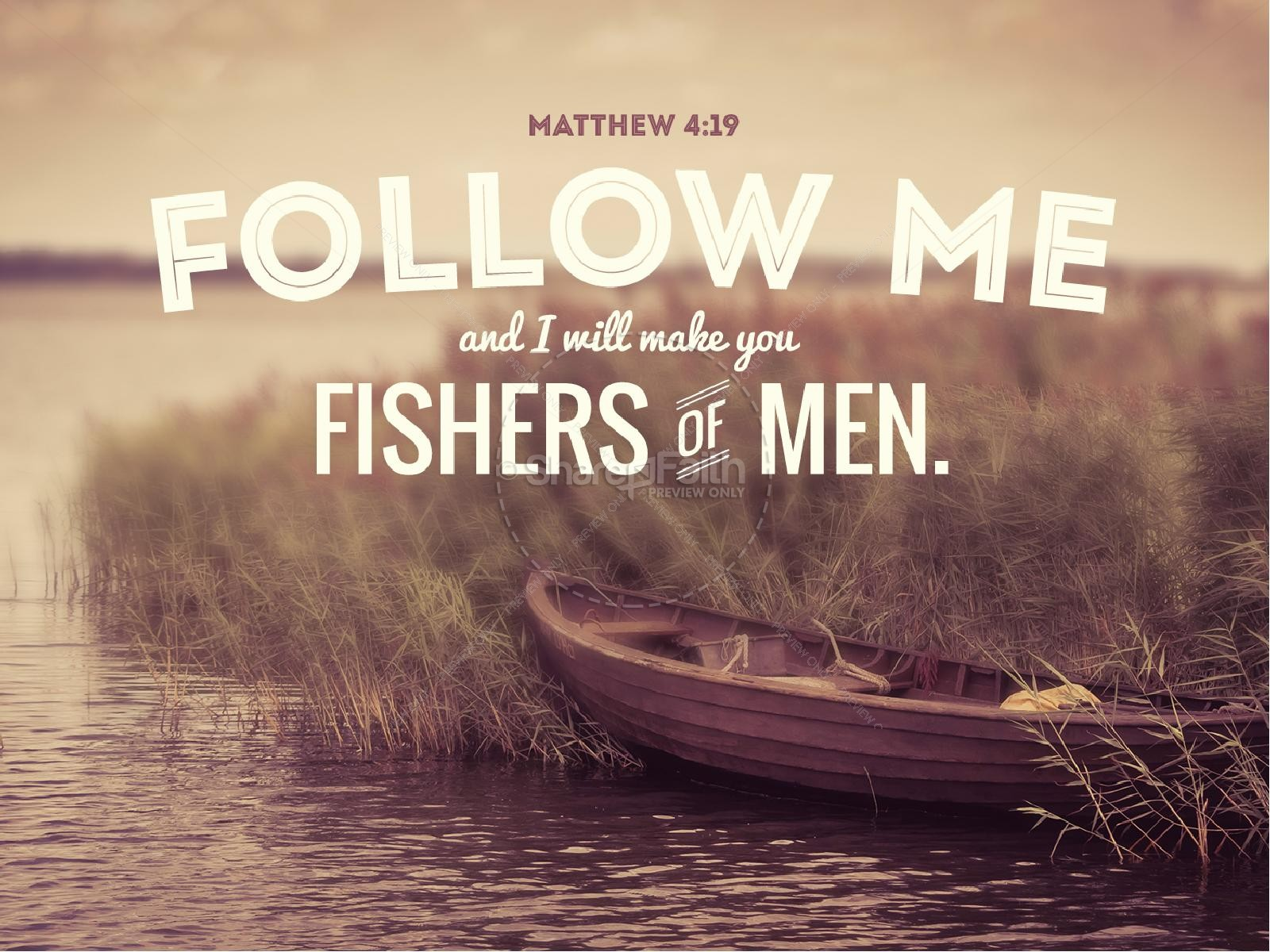 Come Follow Me Fishers Of Men Sermon PowerPoint